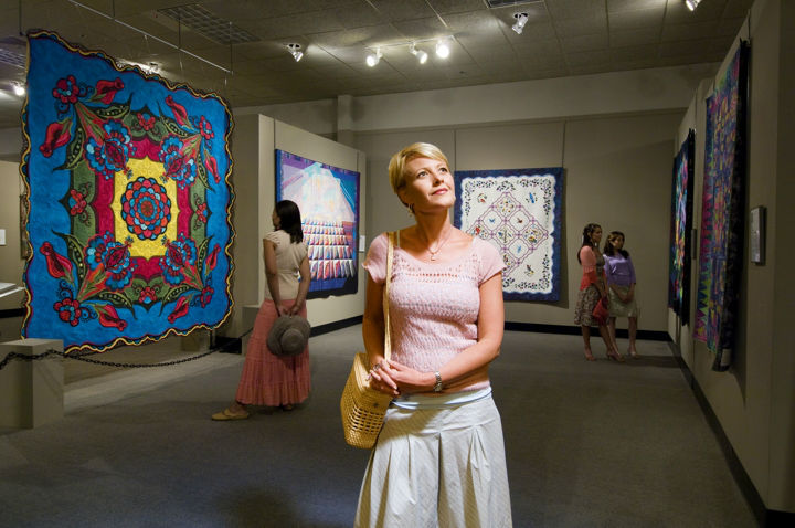 The National Quilt Museum Gallery, with visitors