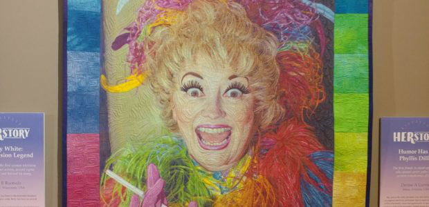 HERstory quilt: Phyllis Diller